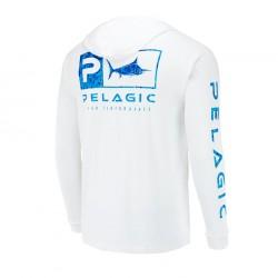 Camiseta Técnica Aquatek Hoodie Azul