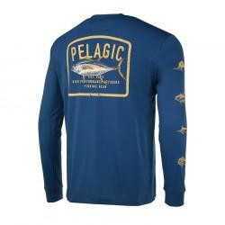 Camiseta técnica Aquatek Game Fish azul marino Pelagic