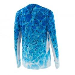Camiseta Solar Pro Dorado Azul Pelagic