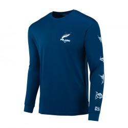 Aquatek Icon Long Sleeve Fishing Shirt Pelagic
